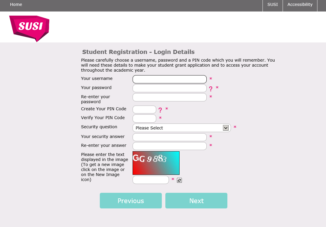Student Registration Page 4